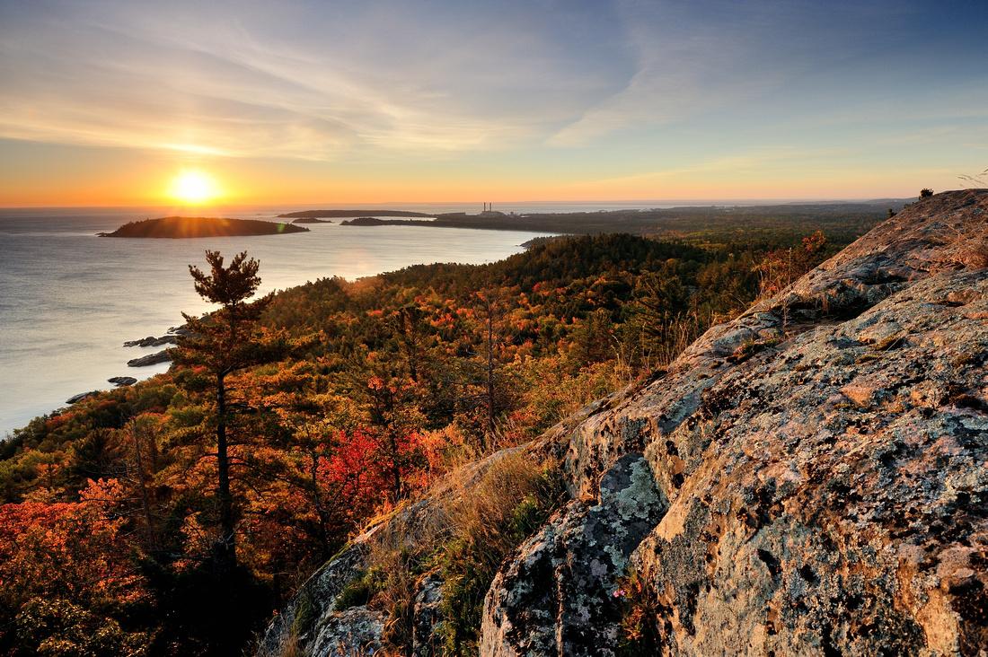 Sugarloaf Mountain Sunrise Marquette Michigan