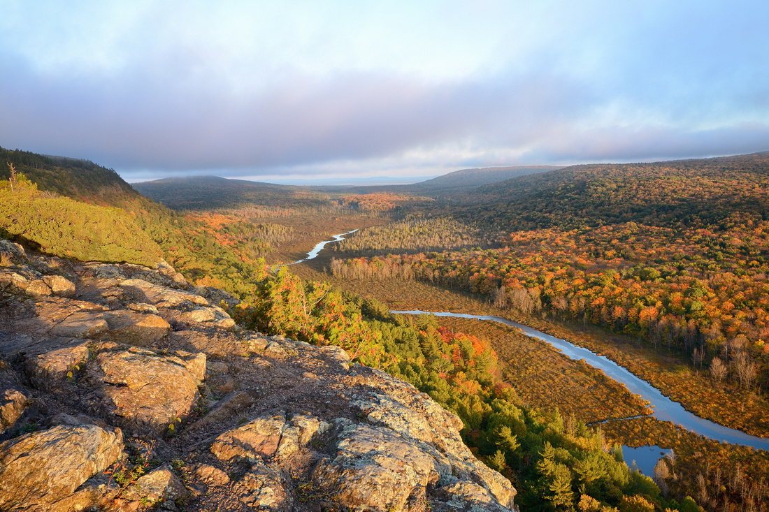 Autumn colors in the Carp River Valley, Porcupine Mountains State Park