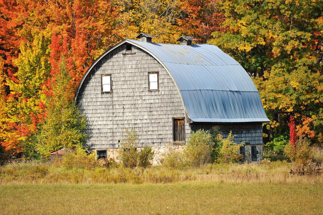 Autumn barn chassel Michigan