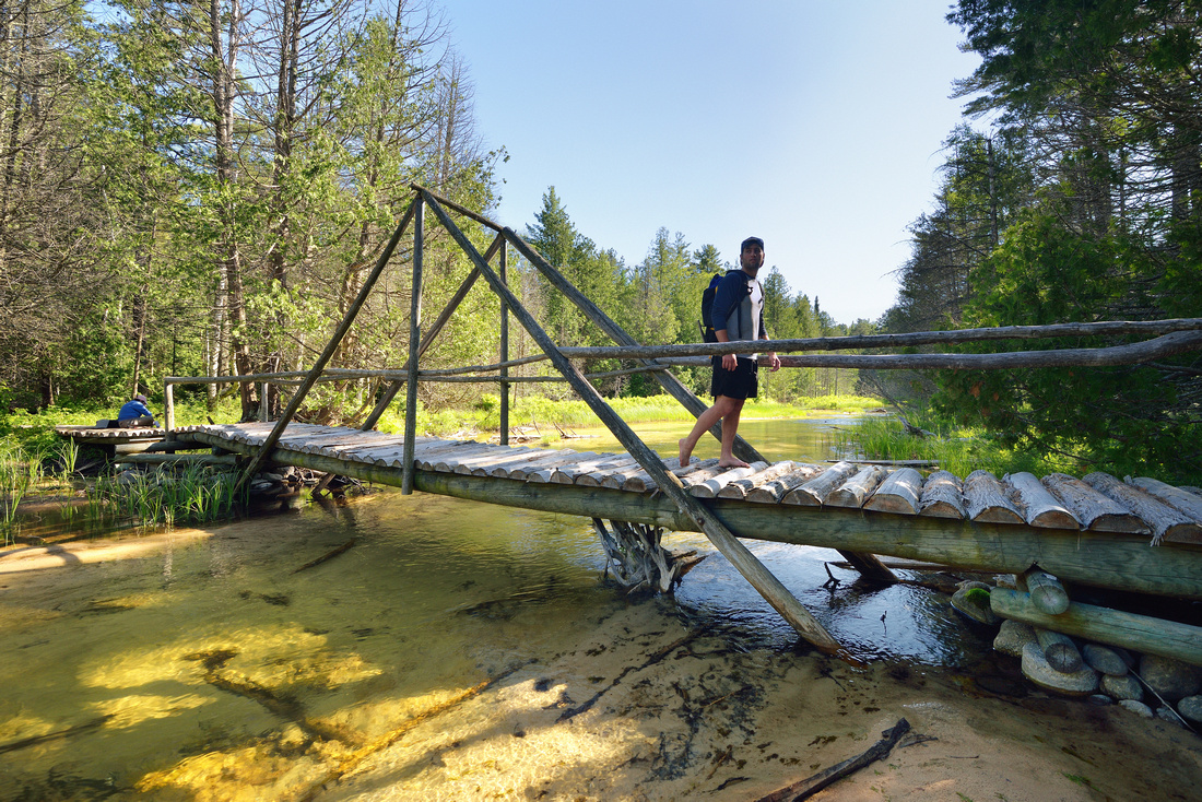 Footbridge over Beaver Creek - Beaver Basin Wilderness