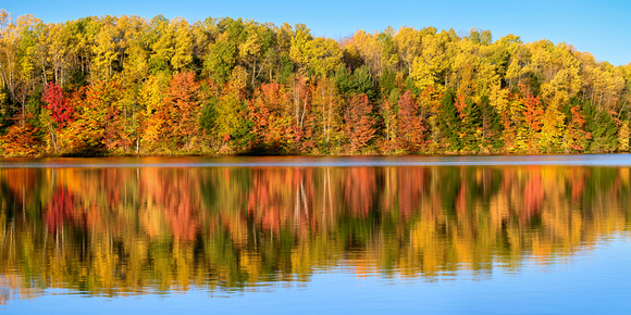 Moccasin Lake Fall reflections-Hiawatha National Forest
