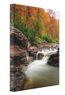 Michigan waterfall canvas for your walls Fine art Canvas print