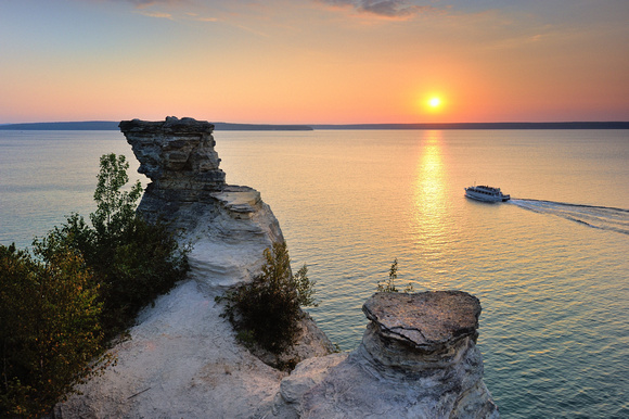 """Sunset Cruise"" Miners Castle, Pictured Rocks National Lakeshore"