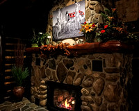 Point Betsie metal print-above fireplace-Michaels Steakhouse Indian River