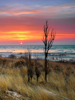 Tawas state park early winter sunrise