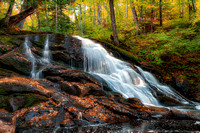 Baraga Falls Evening Autumn Light