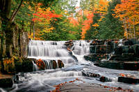 """Leaves on the Stream"" Quartzite Falls, Baraga County"