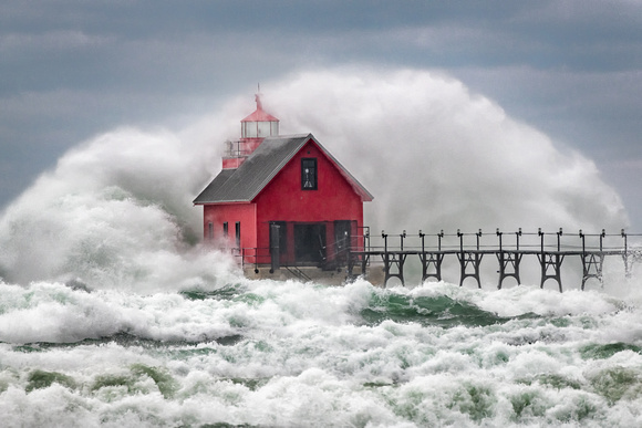 Grand Haven Lighthouse-Churning Storm