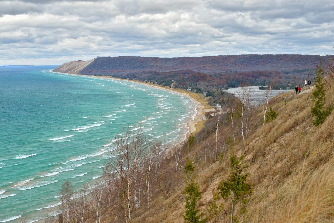 November Gales at Empire Bluff Michigan