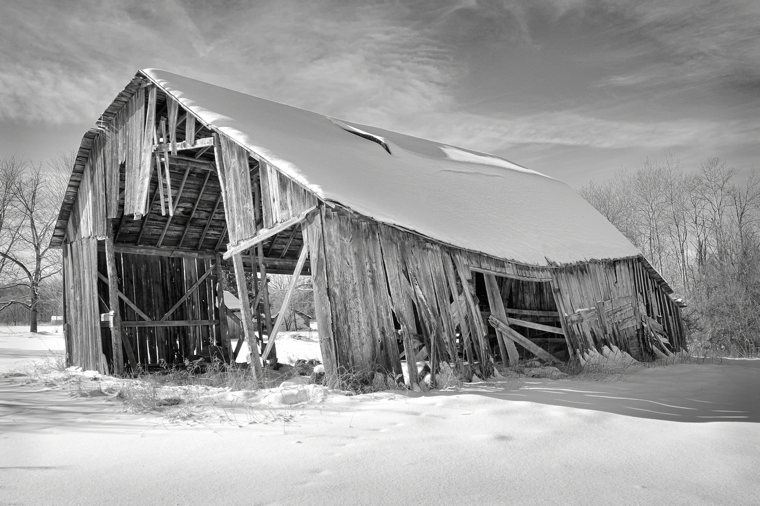 """""""The last days of an old barn""""  Rural Montcalm County Michigan"""