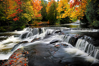 Autumn at Michigan's Bond Falls  ( Waterfall Gallery )