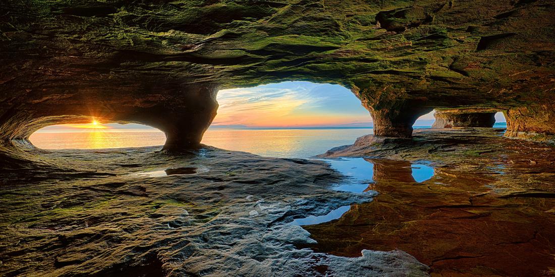 """North Windows"" Lake Superior Cave"