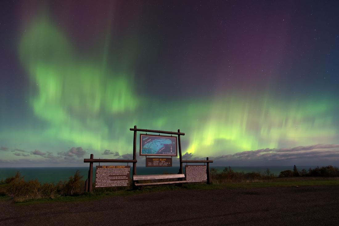 Northern Lights-Brockway Mountain-Michigan