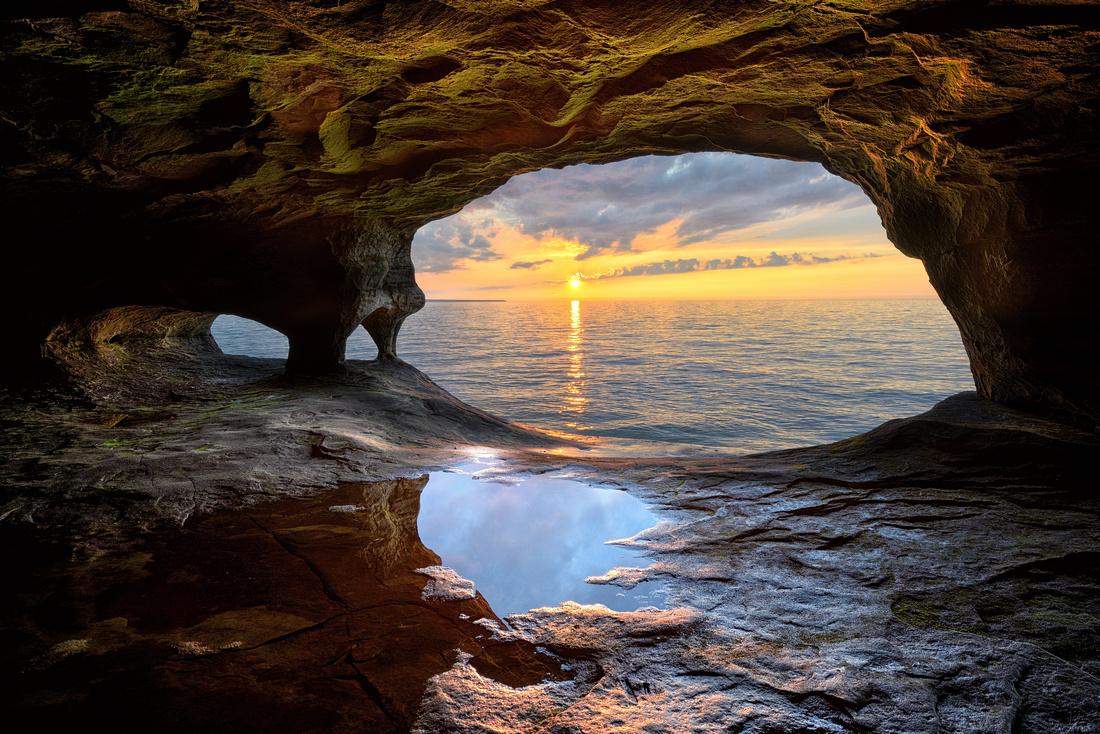 Lake Superior Sea Cave near Munising, Michigan