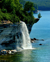 Spray Falls , Pictured Rocks National Lakeshore