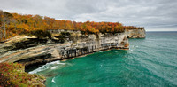 Grand Portal Point pano,Pictured Rocks National Lakeshore