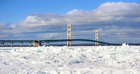 Wintertime at Mackinac Bridge