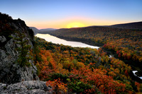 Autumn sunrise at Lake of the Clouds Porcupine Mountains