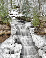 Winter at Chapel Falls Pictured Rocks National lakeshore