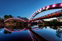 Night Lights a the Tridge - Midland, Michigan
