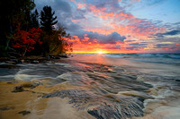 Mouth of the Hurricane River Sunset at Pictured Rocks National Lakeshore