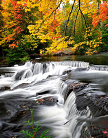Autumn Waterfall  -Upper Bond Falls - paulding, Michigan