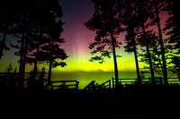 Northern Lights at Miners Beach Pictured Rocks National lakeshore