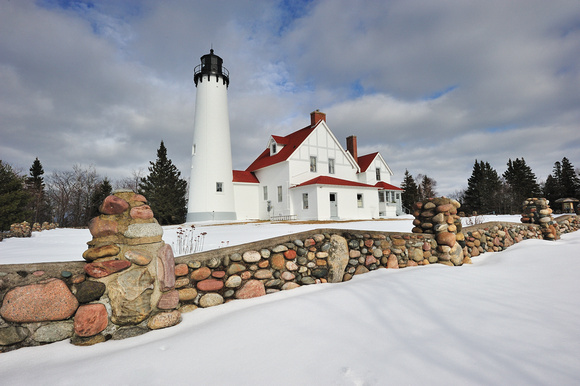 Point Iroquois Lighthouse, Whitefish Bay, Michigan