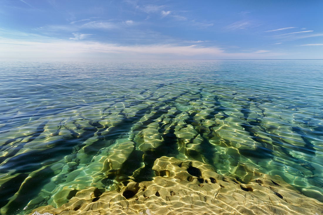Tropical looking underwater features in lake Superior.