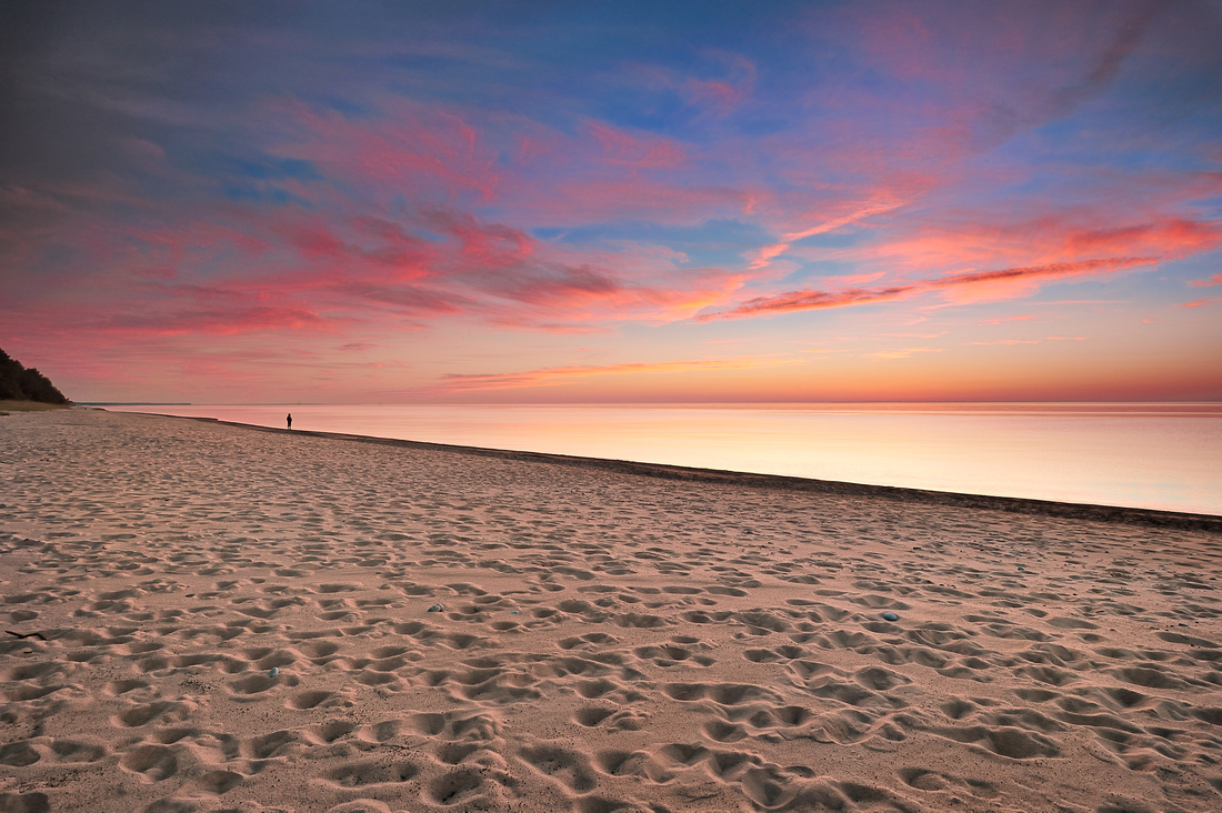 Twelvemile Beach Sunset Pictured Rocks National lakehsore