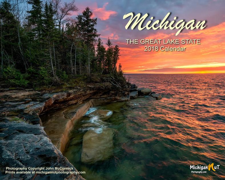 Michigan Nut Photography 2018 Michigan Scenes Calendar