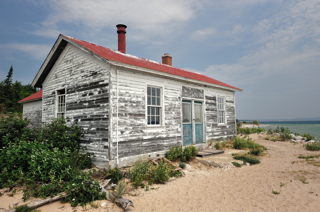 Old boat house on South Manitou Island