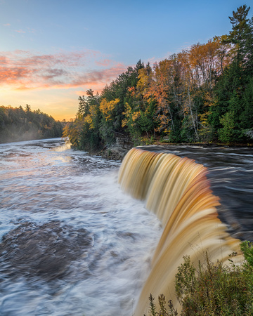 Tahquamenon Falls - Misty Autumn Sunrise