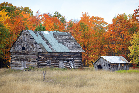 Michigan nut photography old barns log cabins old for Hand hewn log cabin kits
