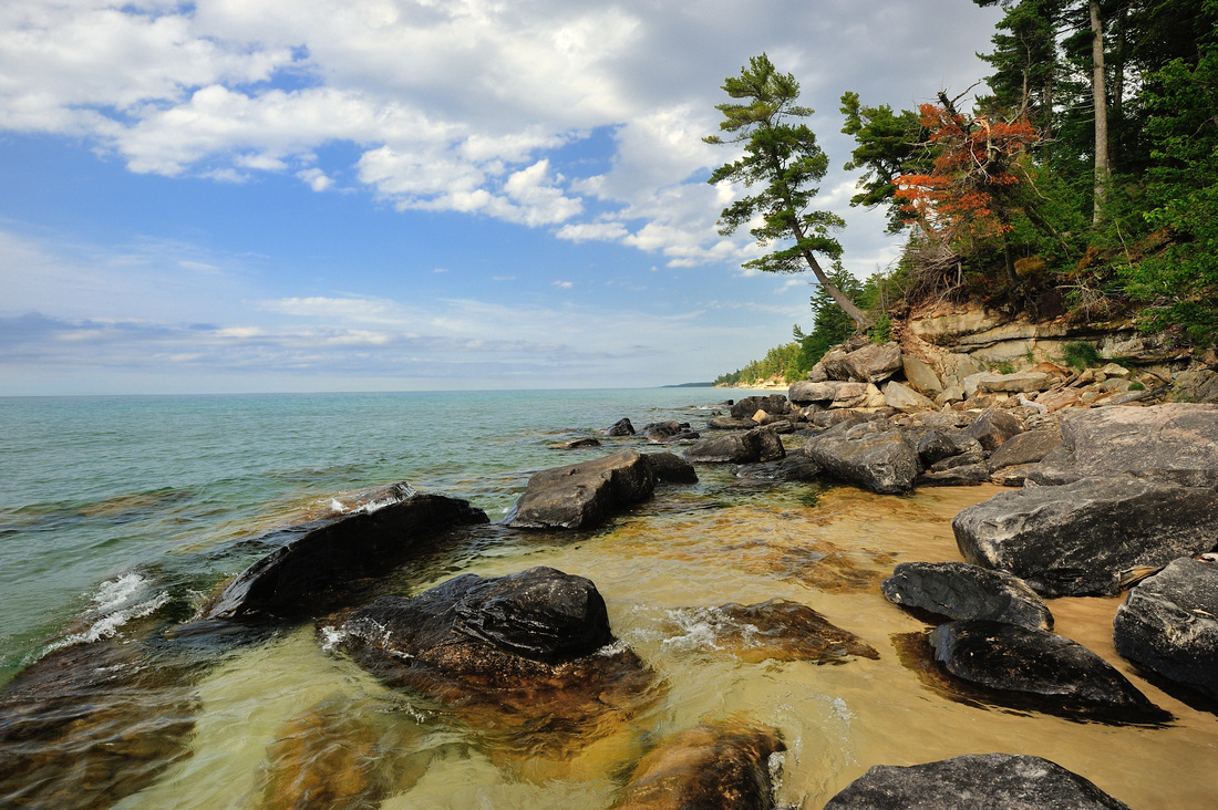 """Rocky Shores"" Beaver Basin Wilderness Pictured Rocks National Lakeshore"