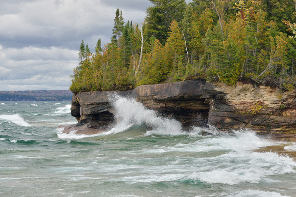 Stormy Autumn day on Lake Superior