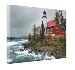 Purchase Michigan Lighthouse Fine Art Canvas Print