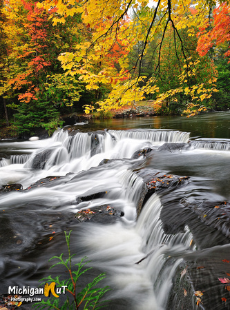 """Autumns Art""  Bond Falls - paulding , Michigan"