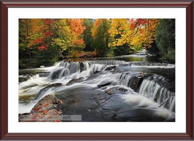 Michigan Framed Autumn Art