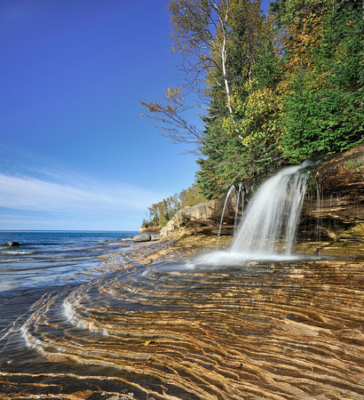 Miners Beach Falls , Pictured Rocks National Lakeshore, Michigans upper peninsula