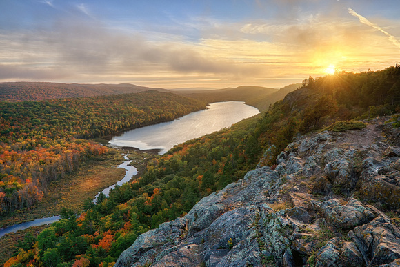 Lake of the Clouds Sunset, Porcupine Mountains State Park.