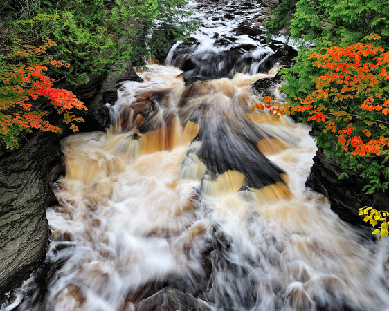 Autumn at Presque Isle River Porcupine Mountains State Park