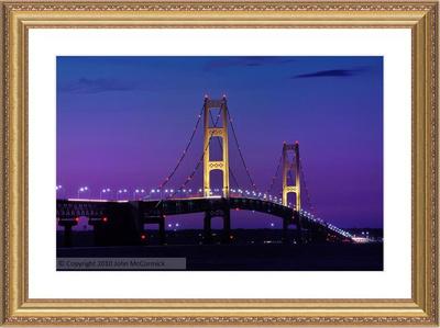 Mackinac Bridge Print professionally framed