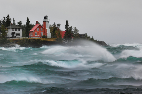 Eagle Harbor Lighthouse Gale , 60mph gusts