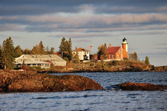 Autumn at Eagle Harbor Lighthouse Sunrise