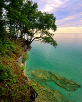 """Sunset from the cliffs of Pictured Rocks National Lakeshore"""