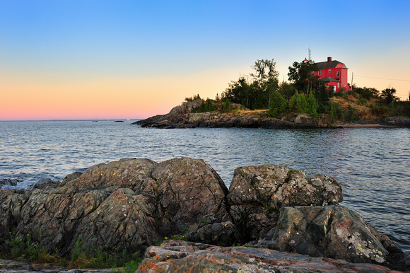 """McCarty's Cove Sunset""  Marquette Harbor Lighthouse"