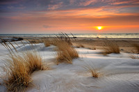 """Winter at the Beach"" Tawas Point State Park - East Tawas, Michigan  (Lake Huron)"