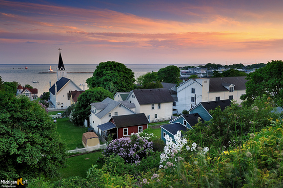 Mackinac Island Harbor Sunset
