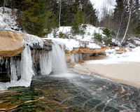 Winter at Elliot Falls Pictured Rocks National Lakeshore